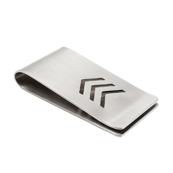 Other - Stainless Steel Money Clip With Chevron Design
